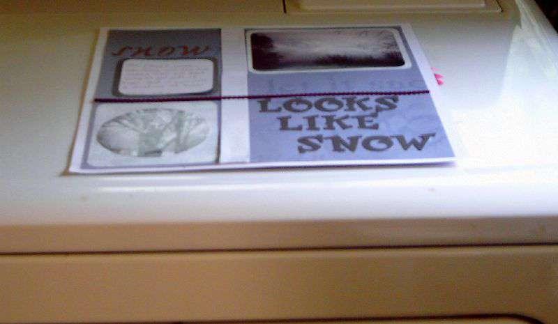 Wk.2 - Looks Like Snow