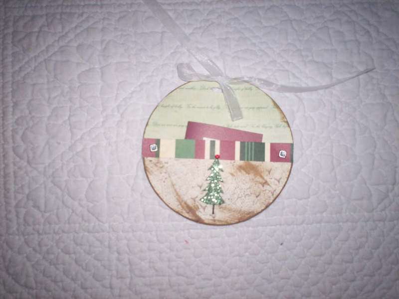 Christmas tags with a pocket