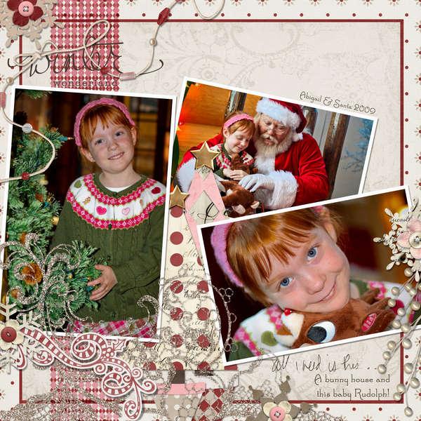 Abigail & Santa 2009