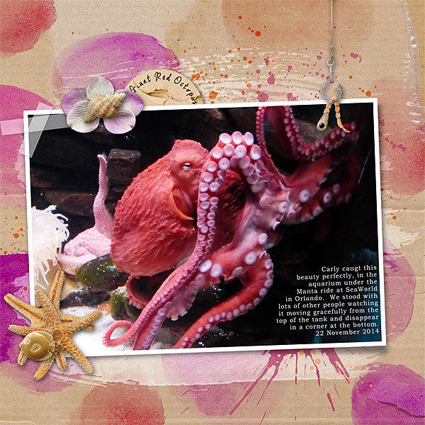 giant red octopus