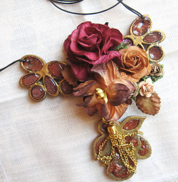 Wearable Mixed Media necklace