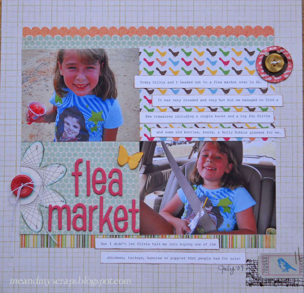 Flea market {Aug Kraft Girl Kits}