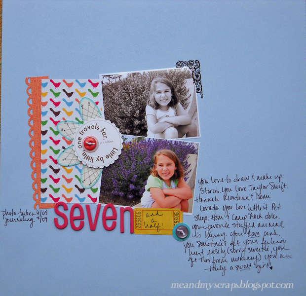 Seven and a half {Aug Kraft Girl Kits}