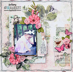 """49 and Market """"Let Your Dreams be Your Wings"""" 12x12 layout"""