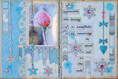 Snowflake Art Journal Page***Blue Fern Studios***