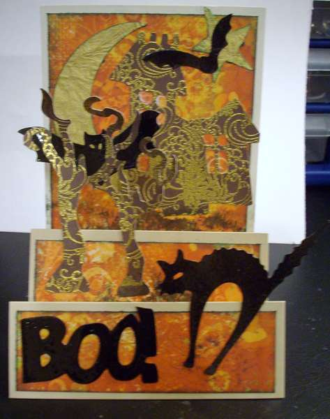 Boo - Halloween Card - front view