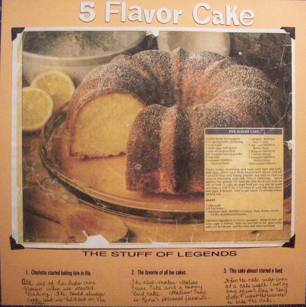 5 Flavor Cake