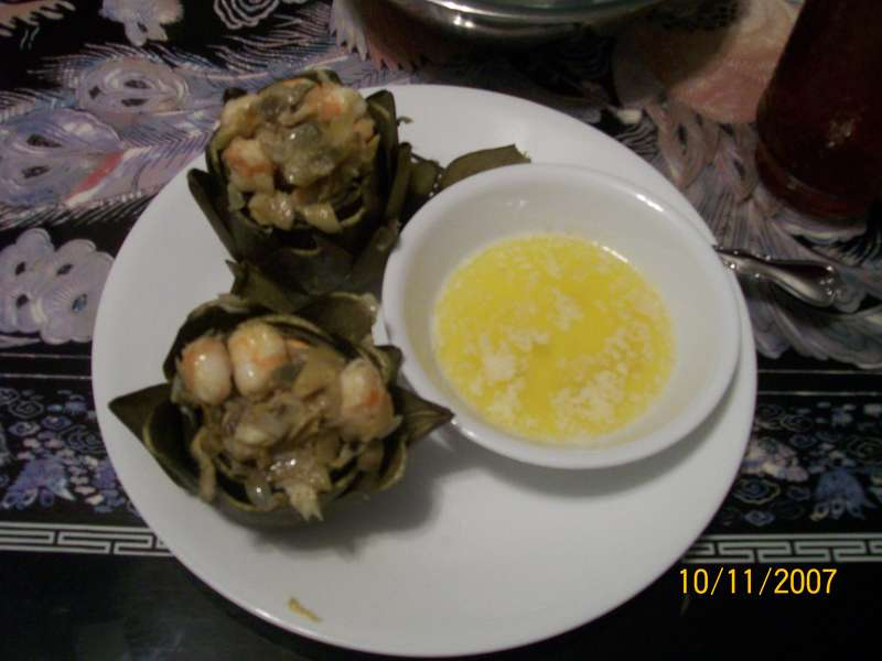 Crab and Shrimp Stuffed Artichokes