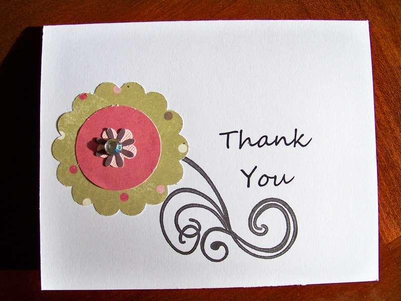 Thank you card - sample