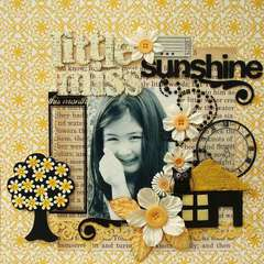 Little Miss Sunshine (embellished Idol 3rd week challenge)