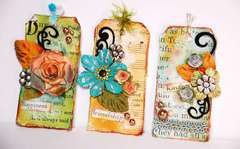 Distressed Floral Tags