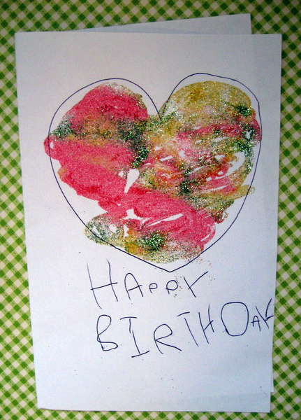 My daughter's card!