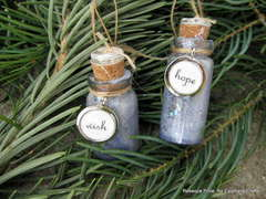 Wish and Hope bottle ornaments  *Epiphany Crafts*