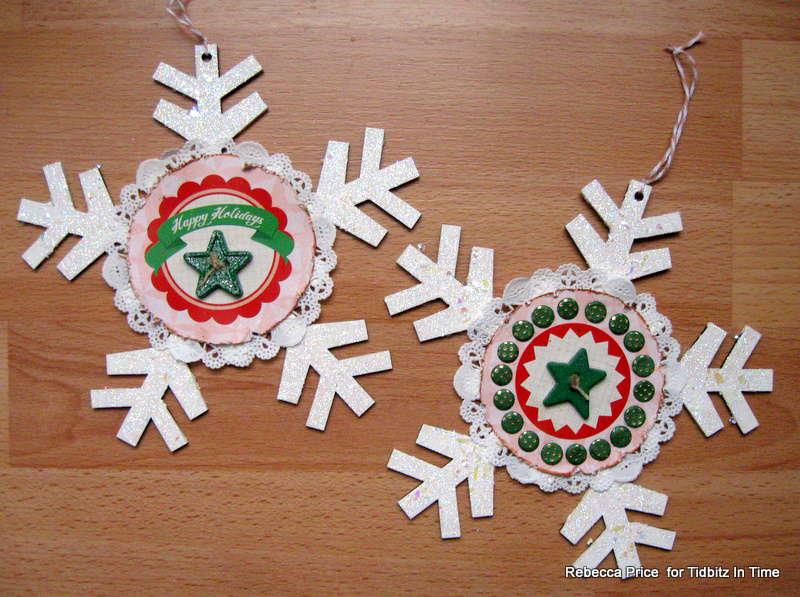 Snowflake ornaments  *Tidbitz In Time*