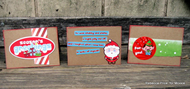Easy Teacher Christmas Cards  ** Moxxie **