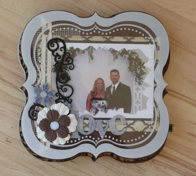 Mixed Media Wedding album