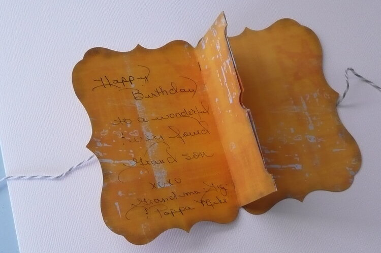 Inside of Card from CTMH Artise