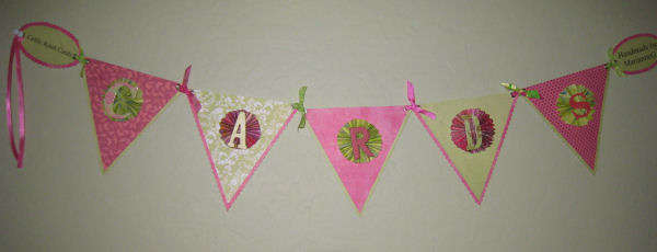 Banner for craft fair table