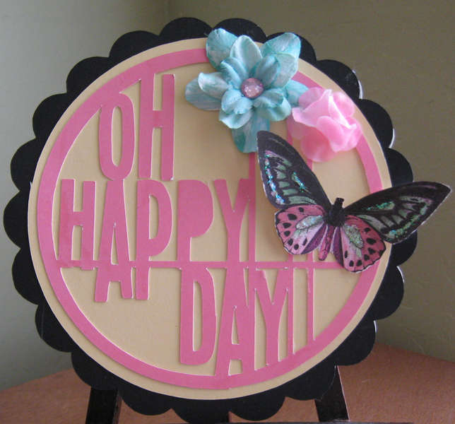 Happy Day Silhouette card
