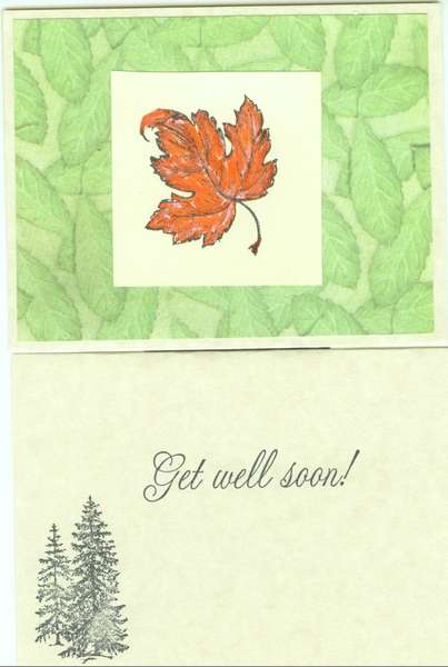 Get well Card - Maple Leaf