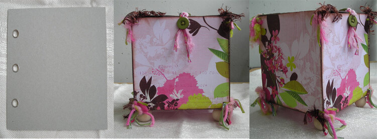 Altered box made from a chipboard album