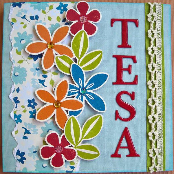 Birthday card for Tesa