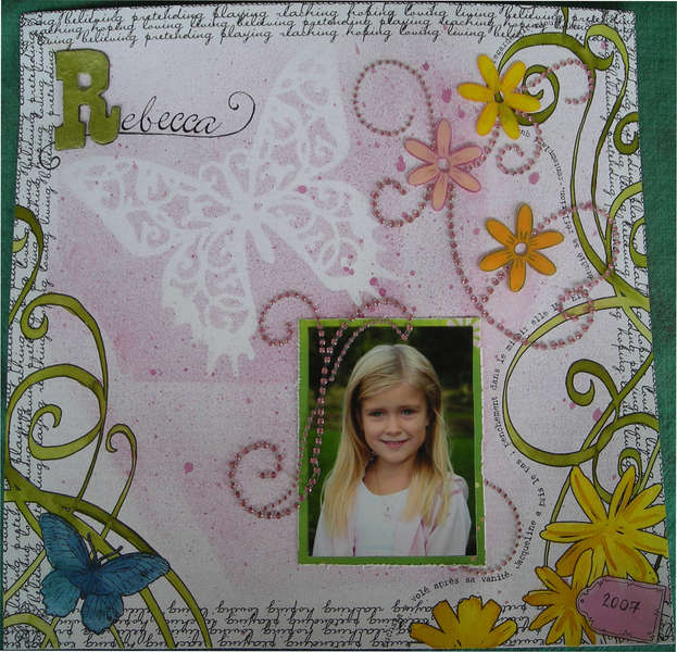 Rebecca (My 6th LO for the Scrapbook Queen 2008 Challenge)
