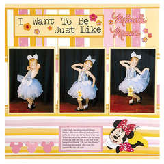 I want to be like...Minnie Mouse - Joy Macdonell