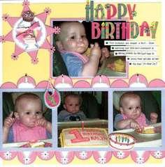 Happy First Birthday - by Karen Bulmahn