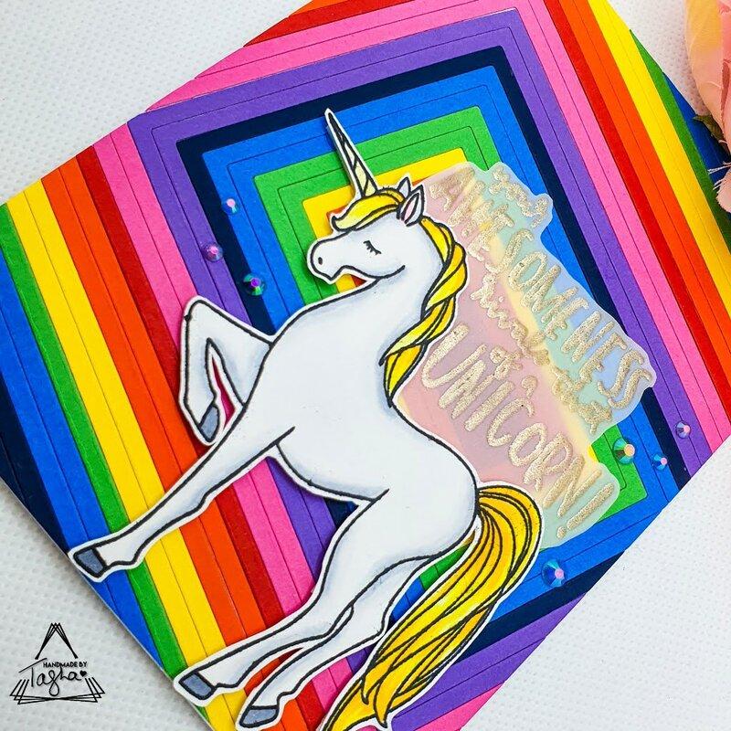 Rainbow Die Cut Inlay | Unicorn Awesomeness