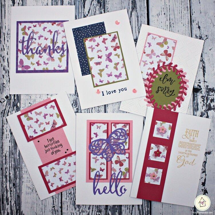 Weekend Fun One-Sheet Wonder Cards (Butterflies)