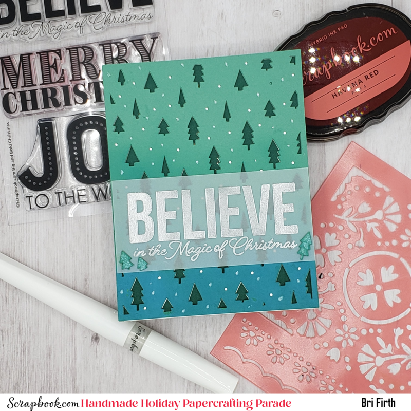 Believe in the Magic of Christmas Ombre Tree Card