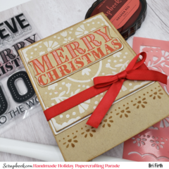 Big and Bold Merry Christmas Stencil Card