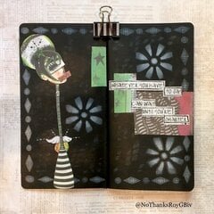 Mostly Grayscale Collage Journal Pages 2-3