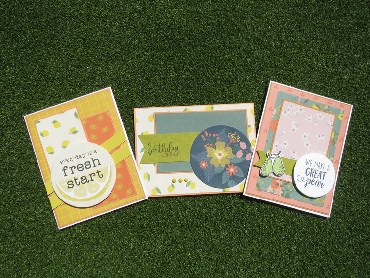 Citrus themed cards