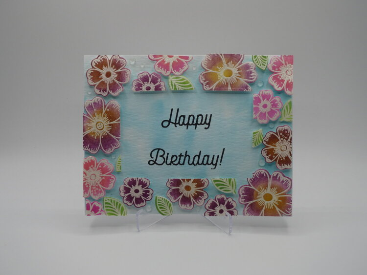 Floating flowers card