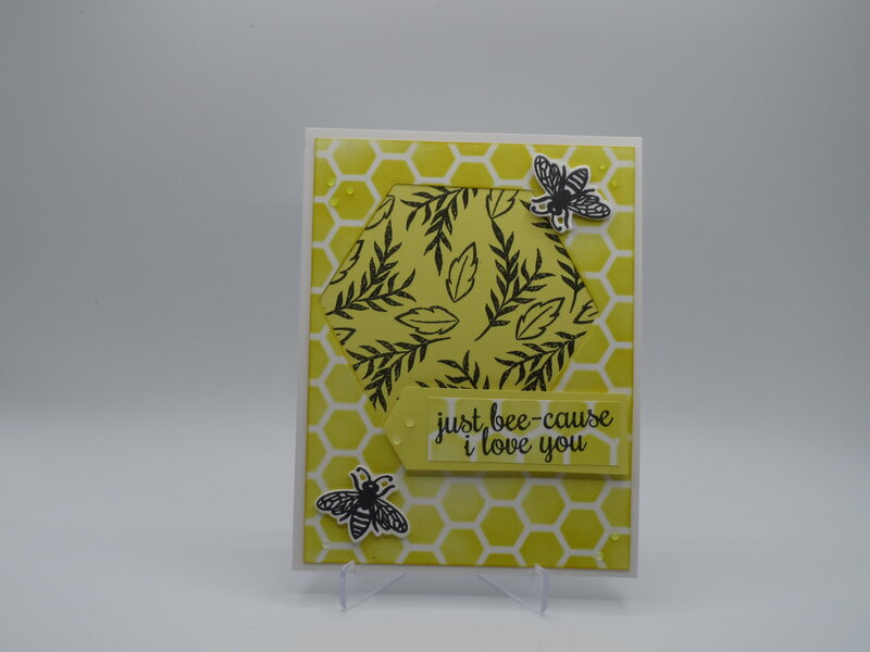 Just Bee-Cause I Love You card