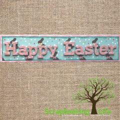 Happy Easter Shadowbox with Foundations Decor