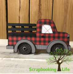 Pickup Truck with Foundations Decor