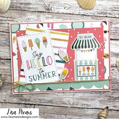 Handmade Summer Card - Echo Park Pool Party - 10 Cards 1 Collection