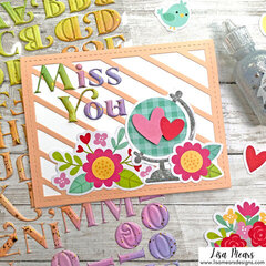 Quick and Easy Card with Ephemera and Stickers