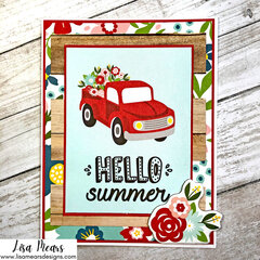 Handmade Card - Echo Park - A Slice of Summer Collection