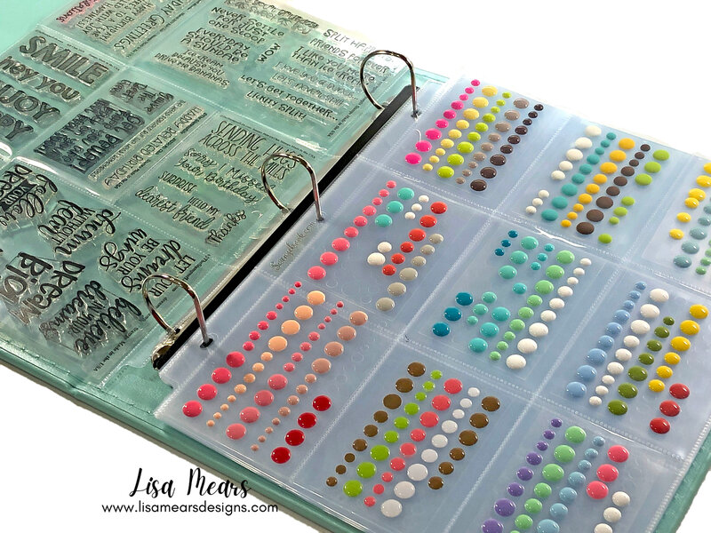 Using Albums for Stamp and Embellishment Storage