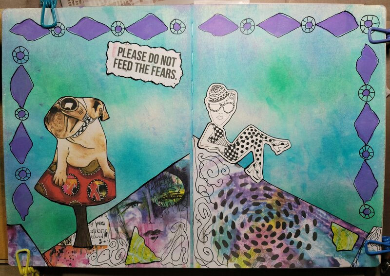 Dylusions art journal layout