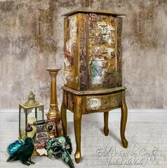 Re-design Steampunk Jewelry Armoire by Eclat Designs by Crystin