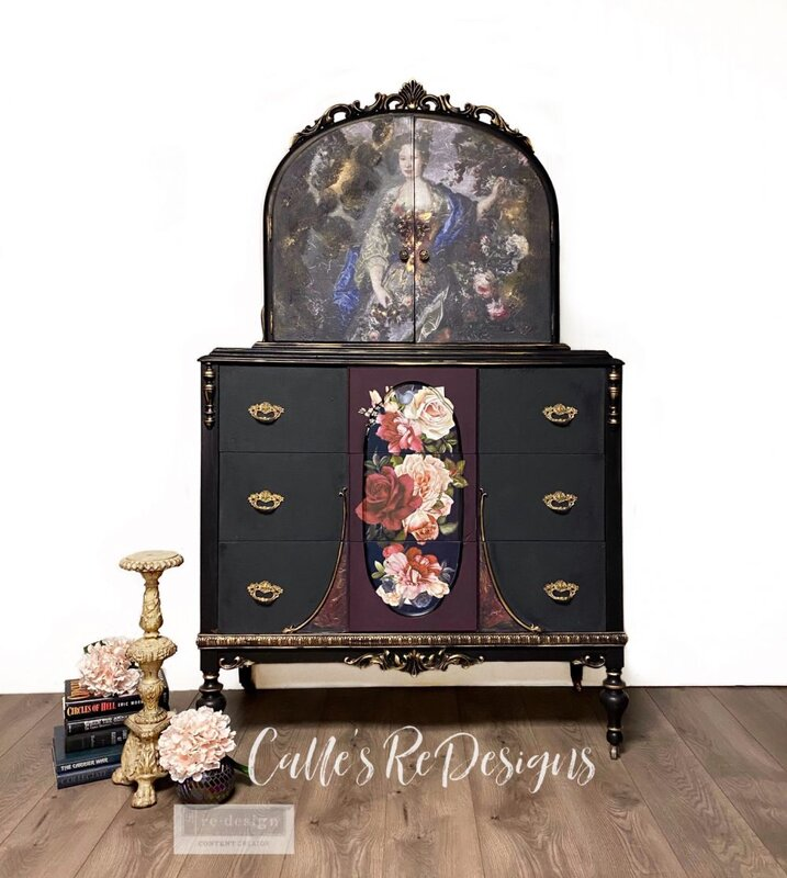 Re-design New release Decoupage Mulberry Paper Royal Garden Project by Calle's ReDesigns