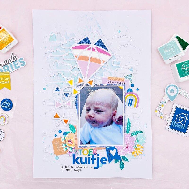 Baby layout - Stoer kuifje