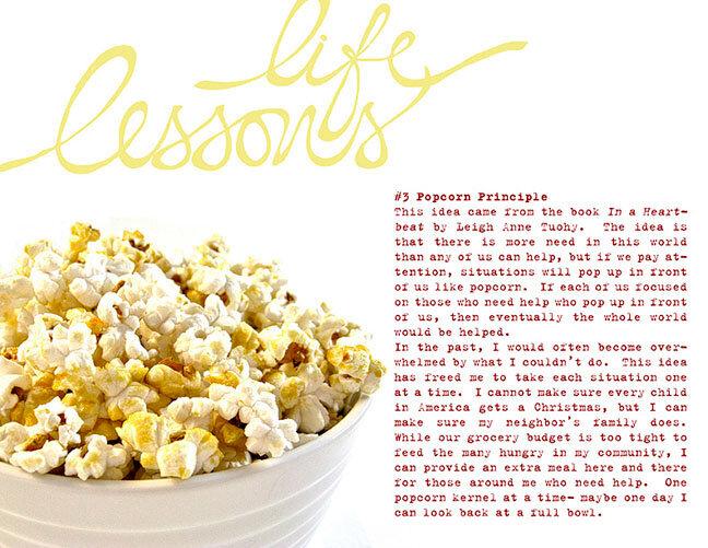 Life Lesson #3: Popcorn Principle