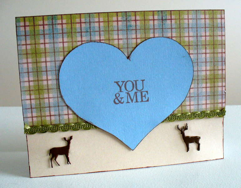 You and Me deer card