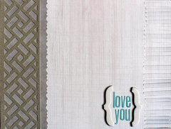 Grey Love you card